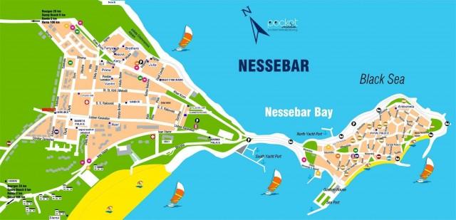 Карта Несебра