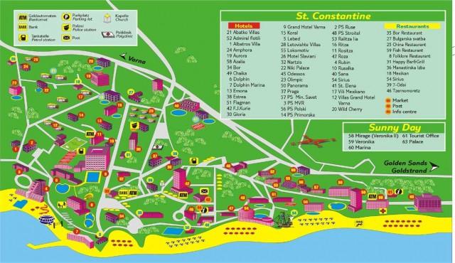 Карта Св. Константина и Елены